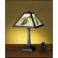 Meyda Tiffany 27498 Accent Table Lamp from the Pinecones Collection - tiffany glass