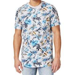 Sean John NEW White Mens 2XL Bird Leaf Graphic Crewneck Tee T-Shirt