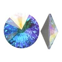 Swarovski Elements Crystal, 1122 Rivoli Fancy Stones 18mm, 2 Pieces, Crystal AB Sf