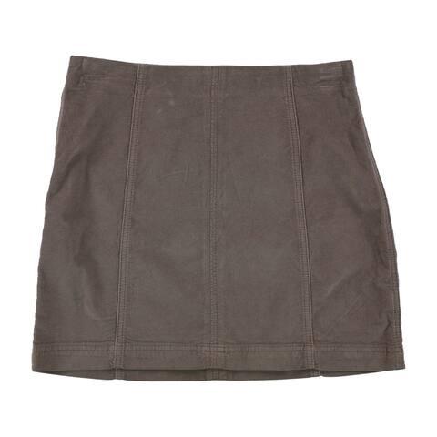 Free People Womens Corduroy Mini Skirt