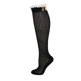 Jefferies Socks Women's Lace Top Boot Knee Highs - One Size