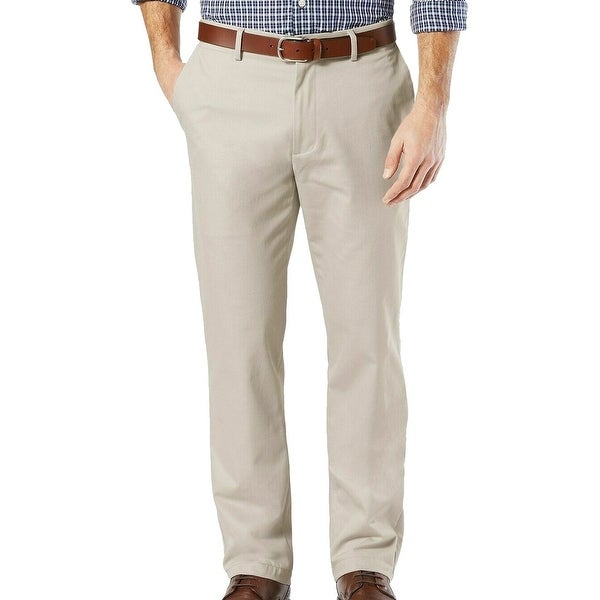 Dockers Mens Signature Khaki Pants Beige Size 38x30 Straight Fit Stretch. Opens flyout.