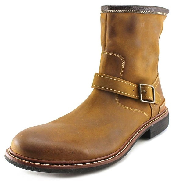Cole Haan Bryce Zip Boot Men Round Toe Leather Snow Boot