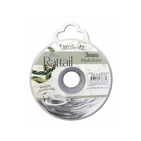 Dazzle It Rattail Cord 3mm 10yd Silver