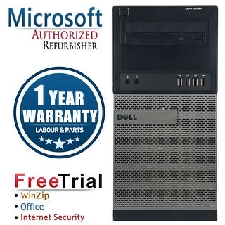 Refurbished Dell OptiPlex 990 Tower Intel Core I5 2400 3.1G 8G DDR3 1TB DVD Win 7 Pro 64 Bits 1 Year Warranty - Black