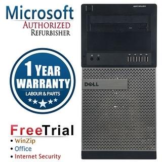 Refurbished Dell OptiPlex 990 Tower Intel Core I7 2600 3.4G 4G DDR3 250G DVD WIN 10 Pro 64 Bits 1 Year Warranty - Black