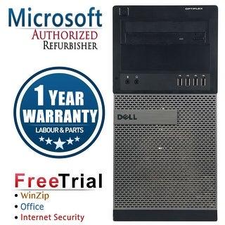 Refurbished Dell OptiPlex 990 Tower Intel Core I7 2600 3.4G 4G DDR3 250G DVD Win 7 Pro 64 Bits 1 Year Warranty - Black