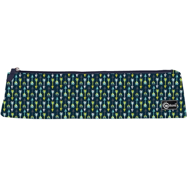 "Creative Options Needle Case W/Zipper-14.5""X2.5""X3.25"" Navy & Blue"