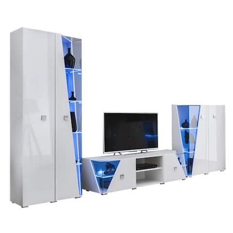 Edge Set TV-BK-CUR Modern Wall Unit Entertainment Center