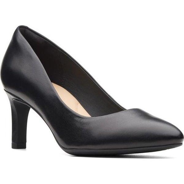 10634ec2e15c Shop Clarks Women s Calla Rose Pump Black Smooth Leather - On Sale ...