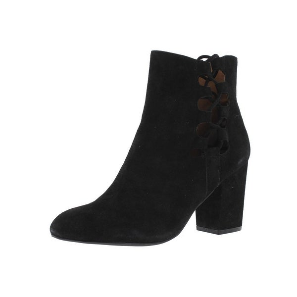 Steve Madden Womens Savor Ankle Boots Suede Covered