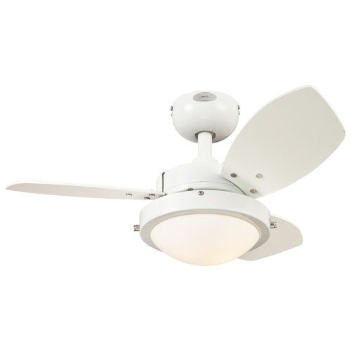"""Westinghouse 7247200 Wengue 30"""" 3 Blade Hanging Indoor Ceiling Fan with Reversible Motor, Blades, Light Kit, and Down Rod"""