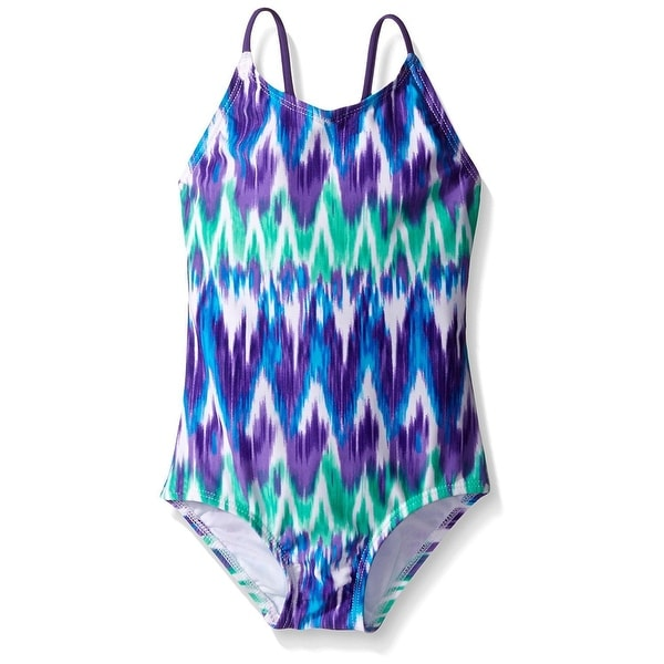 c43013358d Shop Kanu Surf Purple Blue Girl's Size 14 Kelly One-Piece Swimsuit - Free  Shipping On Orders Over $45 - Overstock - 28097315