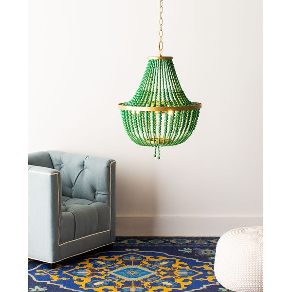 "Safavieh Collection Inspired by Disney's Live Action Film Aladdin-Safavieh Lighting Prince Chandelier - 16.5"" x 16.5"" x 25-97"". Opens flyout."