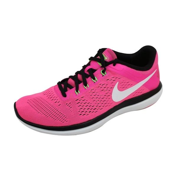 9e51800337d Shop Nike Women s Flex 2016 Run Pink Blast White-Black-Electric ...