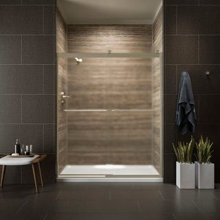 """Kohler K-706015-D3 Levity 74"""" Frosted Sliding Shower Door with Towel Bars and CleanCoat Technology"""