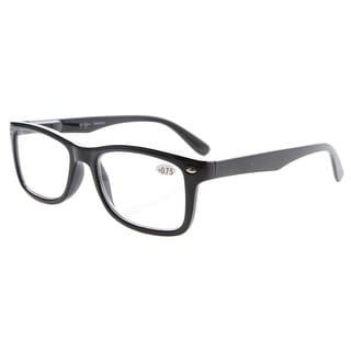 Eyekepper Readers Spring-Hinges Quality Classic Vintage Style Reading Glasses Black +1.75