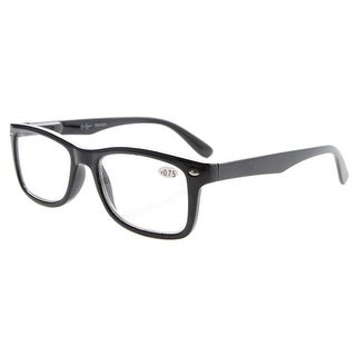 Eyekepper Readers Spring-Hinges Quality Classic Vintage Style Reading Glasses Black +1.75