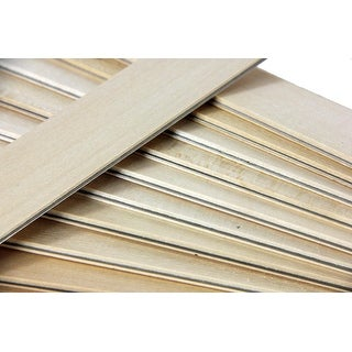 "25 Natural Wooden Straight Edges with Metal Strips Office Supplies - 12"" - brown"