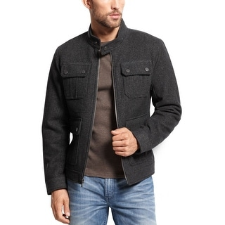 INC International Concepts Jacket XX-Large Charcoal Heather Full Zip Up