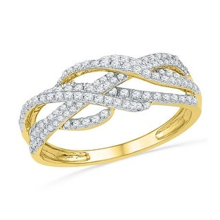 Two Tone Trio Rings set 10K White Gold 1/3cttw His and Her Rings(I/j Color 0.33cttw)