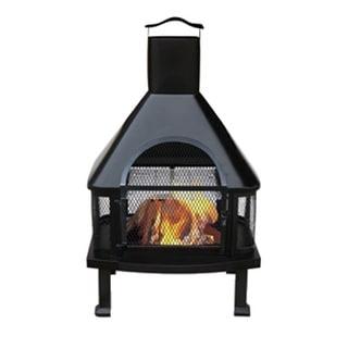 UniFlame WAF1013C Outdoor Fireplace - Black