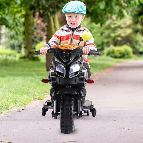 "12V Boy Cool Motorcycle-Black - 7'6"" x 9'6"""