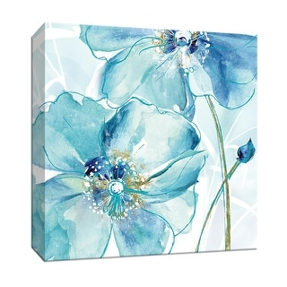 """PTM Images 9-147540  PTM Canvas Collection 12"""" x 12"""" - """"Blue Spring Poppy II"""" Giclee Flowers Art Print on Canvas"""