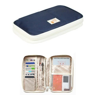 """Large Zippered Passport and Travel Document Organizer Wallet with Wristlet (5.3"""" L x 1.4"""" W x 8.7"""" H)"""