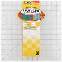 """12-1/2""""X12-1/2"""" - Olfa Frosted Advantage Non-Slip Ruler """"The Standard"""""""