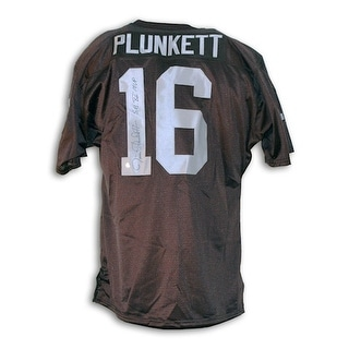 cff4c3032 Shop Autographed Jim Plunkett Oakland Raiders Black Throwback Jersey  Inscribed