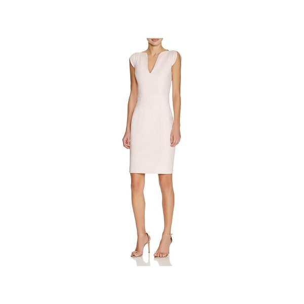 Shop French Connection Womens Lolo Casual Dress Cap Sleeves Knee
