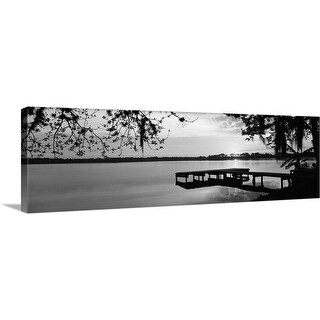 Premium Thick-Wrap Canvas entitled Florida, Orlando, Koa Campground, Lake Whippoorwill, Sunrise - Multi-color