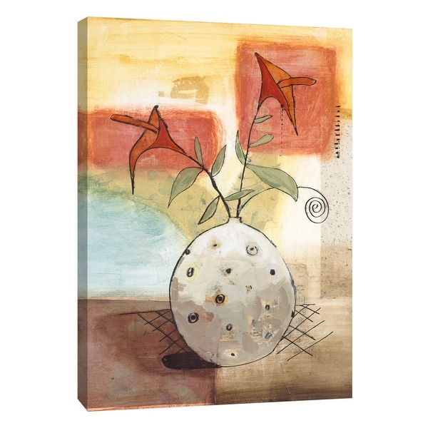 """PTM Images 9-105316 PTM Canvas Collection 10"""" x 8"""" - """"Set Simple 2"""" Giclee Flowers Art Print on Canvas"""