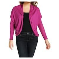 Lauren Ralph Lauren Womens Cardigan Top Open Front Silk