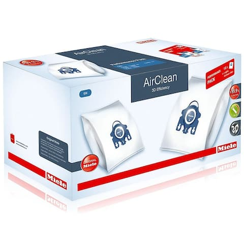 Miele Performance Pack 16 Type GN AirClean 3D Efficiency FilterBags + HA30 HEPA Filter - Blue