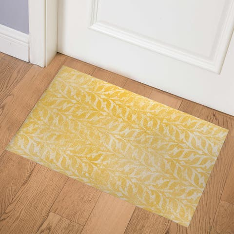 PAVIA YELLOW Indoor Floor Mat by Kavka Designs