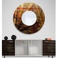 Statements2000 Gold / Red / Brown Metal Decorative Wall-Mounted Mirror by Jon Allen - Mirror 110 - Thumbnail 8