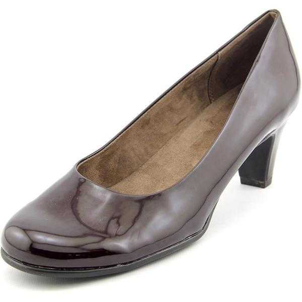 Aerosoles Nice Play Women Round Toe Synthetic Burgundy Heels