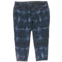 Lauren Ralph Lauren Womens Plus Cropped Jeans Skinny Tie-Dye