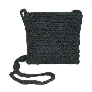 CTM® Women's Crochet Crossbody Handbag - One size