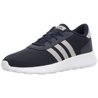 Adidas Mens Lite Racer Fabric Low Top Lace Up Running Sneaker