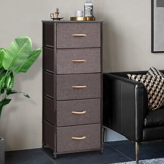 Crestlive Products Household 5-Drawer Vertical Dresser Storage Chest