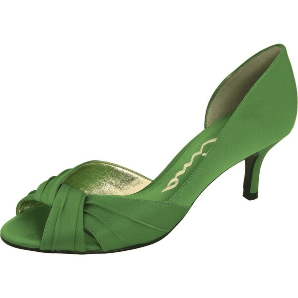 Nina NEW Green Apple Shoes Size 5.5M Solid Open Toe Culver Heels