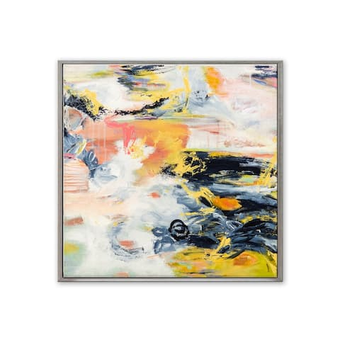 'Corners of My Mind' Framed Canvas Wall Art by Patricia Schwimmer