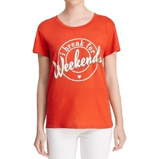 Wildfox Couture Womens Pullover Top Graphic Short Sleeves - xs