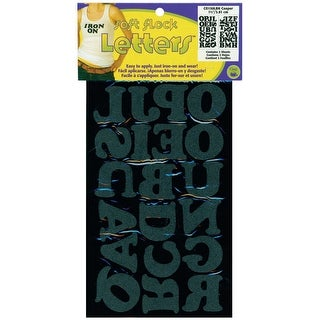 "Soft Flock Iron-On Letters 1.5"" Cooper-Black - Black"