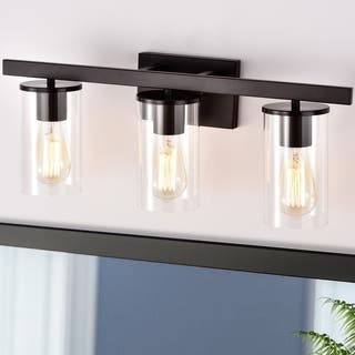 3-Light Vanity Light with Clear Glass Shades