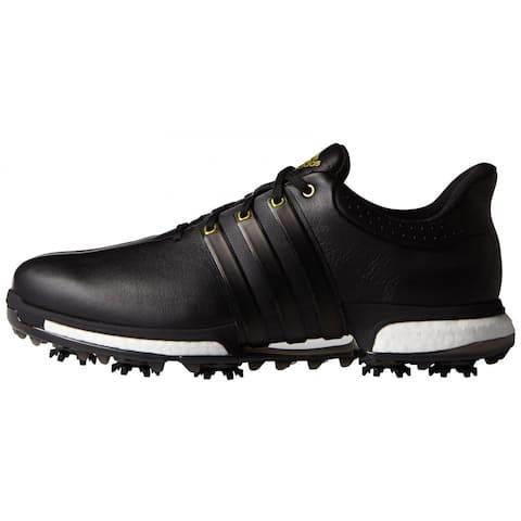 Adidas Men's Tour 360 Boost Black/Gold Metallic Golf Shoes F33250/F33262