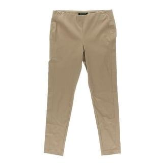 Lauren Ralph Lauren Womens Petites Flat Front Pull On Skinny Pants